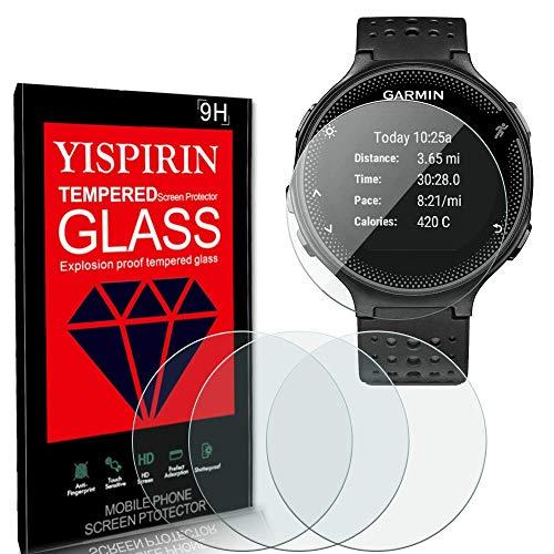 YISPIRIN [4 Piezas] Cristal Templado par Garmin Forerunner 235, Dureza 9H, Anti-Rasguño,Fácil de instalar, Vidrio Templado Protector de Pantalla para Garmin Forerunner 235