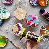 Arteza Pouring Acrylfarbe, 32 Stück-Set, 60 ml Flaschen mit vielen Farbtönen, flüssige Gießfarbe, kein Mischen erforderlich, Farbe zum Gießen auf Leinwand, Glas, Papier, Holz, Fliesen und Steine - 4