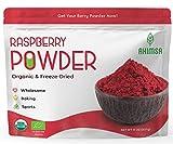 Organic Freeze Dried Raspberry Powder 8 oz | USDA Certified | Red Raspberry Freeze Dried | Smoothie and Backing Powder