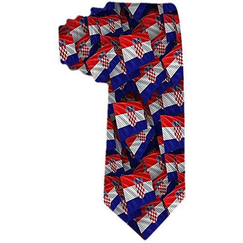 Herren Krawatte Kroatien Flaggenmuster Polyester Seidenkrawatte