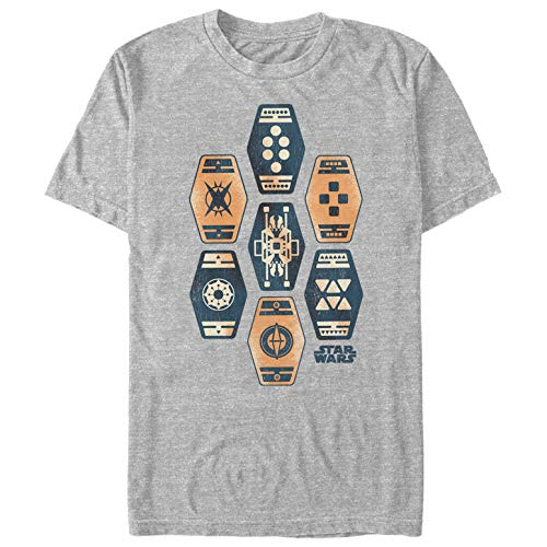 Fifth Sun Solo: A Star Wars Story Men's Sabacc Deck Athletic Heather T-Shirt