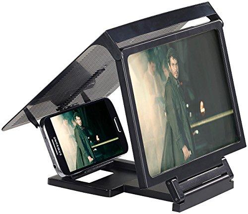 Callstel Handy Vergrößerung: Smartphone & iPhone Acryl Lupe mit 3X Vergrößerung (Handy Bildschirm Lupe)