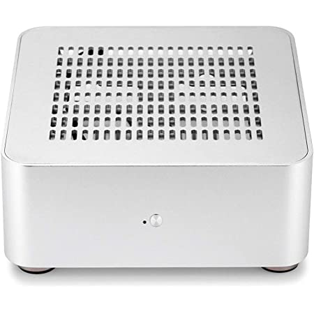 RGEEK PCケース デスクトップ すべてのアルミニウム コンピュータの小型PCケース (80MM, 銀(穴を開ける)