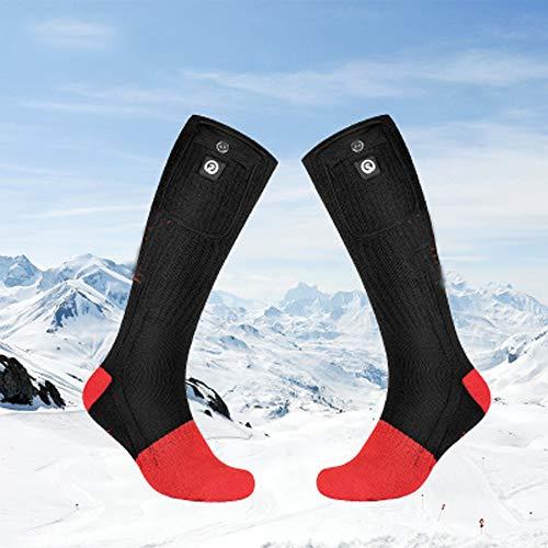 加熱されたソックスは、USBは暖房ソックス暖房暖かい靴下厚みの雪のスキーソックス暖かい足アーティファクト、冬の屋外スキー狩猟キャンプを充電します,L