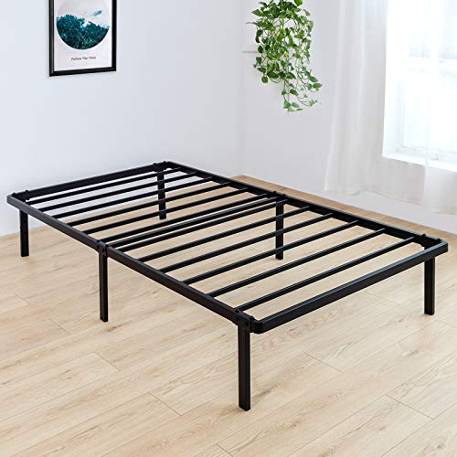 BedStory Twin Bed Frame, 14 Inch Single Metal Platform Bed...