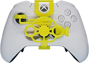 Xbox One Gaming Racing Wheel (Standard), 3D Printed Mini Steering Wheel add on for Xbox One X/Xbox One S/Elite Controller (Yellow)