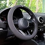 Automix - Coprivolante per auto, in Alcantara, morbido, antiscivolo e inodore, misura universale 38-40 cm