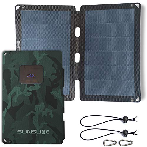 Sunslice] New generation 12W Flexible Solar Panel. Powerful and much lighter, Ultra Thin, unbreakable. for Smartphone, ideal for Camping and Hiking - Green