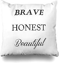 Throw Pillow Cover Square Brave Honest Beautiful Fifth Harmony Funda de Almohada Decorativa Decoración para el hogar Funda de Almohada 18x18 Pulgadas