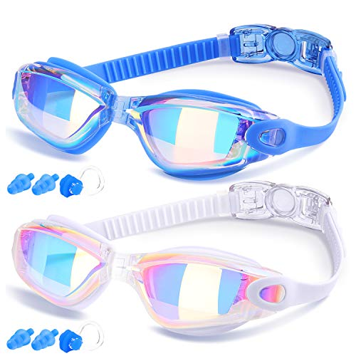 COOLOO Swimming Goggles, Pack of 2, Swim Goggles for Adult Men Women Youth...