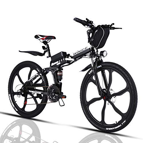 VIVI Bicicleta Electrica Plegable 350W Bicicleta Eléctrica Montaña, Bicicleta Montaña Adulto Bicicleta...