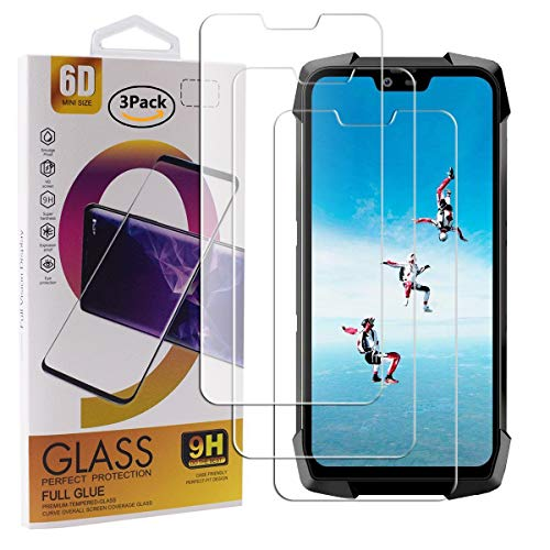 Guran 3 Stück GEH?rtetes Glas Displayschutzfolie für Blackview BV9700 Pro Smartphone mit 9H H?RTE Panzerglasfolie Anti-Kratzer HD Klar Schutzfolie Film
