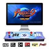 Pandora's Box 9 Multiplayer Joystick and Buttons Arcade Console, TAPDRA Arcade Games Machines for home, 1500 Retro Classic Video Games All in One, Newest System with Advanced CPU, Compatible with HDMI