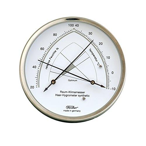 Fischer 146.01 Raum-Klimamesser, Hygrometer und Thermometer, Manufaktur aus Deutschland