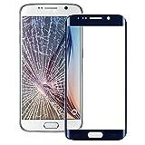 un known Teléfono móvil reemplazable Lente de Cristal Exterior de la Pantalla Frontal para el Accesorio Galaxy S6 / G925 Partes de máquina (Color : Dark Blue)