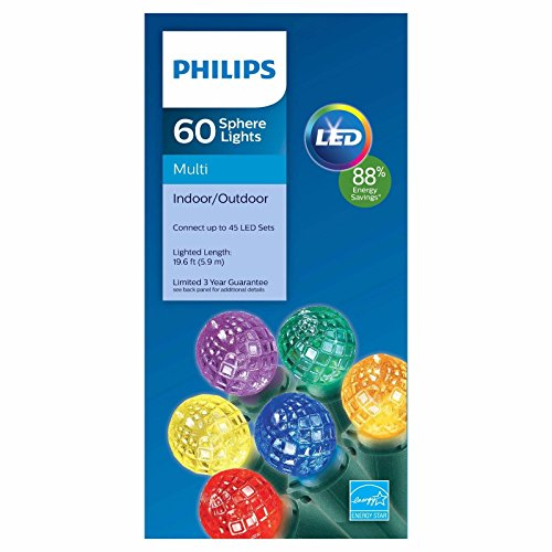 Philips 60ct Multicolored LED Faceted Sphere String Lights