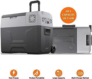 cho Power Sports Portable Freezer Cooler AC/DC Compressor Refrigerator Fridge Trolley Wheels for Truck RV Boat Party Picni...