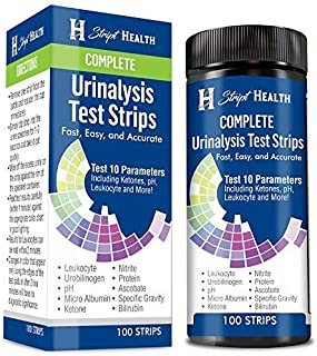 Urine Test Strips - Stript Health 10 Parameter Complete Urinalysis Testing 100ct, Urinary Tract Infection Strips (UTI) Ketones - Protein - pH - Great for Easy Testing Kidney, Liver, Ketosis & Paleo