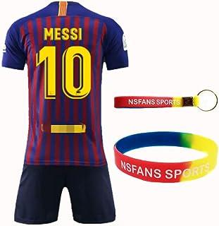 NSFANS Barcelona Camiseta Jersey Futbol 2018-2019 Traje de niños de Manga Corta
