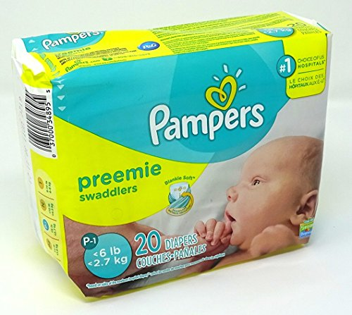 Pampers Swaddlers Preemie Mini Pack 20 Count, Packaging May Vary