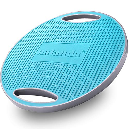 NALANDA Wobble Balance Board, Core Trainer for Balance Training and Exercising, Healthy Material Non-Skid TPE Bump Surface, Stability Board for Kids and Adults