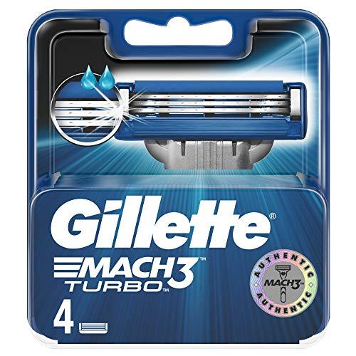 Gillette Mach 3 Turbo Rasierklingen, 4 Klingen