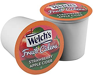 Welch's Fruit Ciders for Keurig K-Cup Brewers, Strawberry Apple, 40 Count