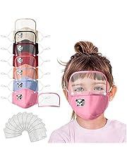 6 pcs Niño 3D Reutilizables 𝐌à𝐬𝐜a𝐫𝐢𝐥𝐥as con Desmontar Gafa 12 pcs almohadilla, prueba polv Transpirables con Elástico para Los Oídos Lavable Respiratoria algodón al aire libre
