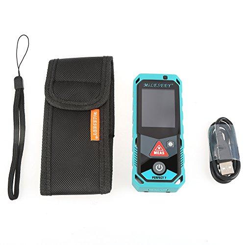 Akozon P7 Telémetro Láser de Bluetooth - Cámara inteligente - Sensor automático Visor de aumento 4X - Pantalla táctil a color- Recargable(100m)