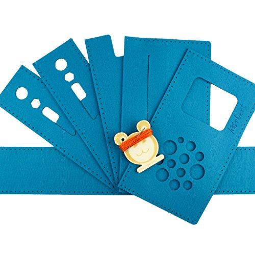 Filztaschen-Nähset für hörbert, den MP3-Player für Kinder aus Holz. (blau)