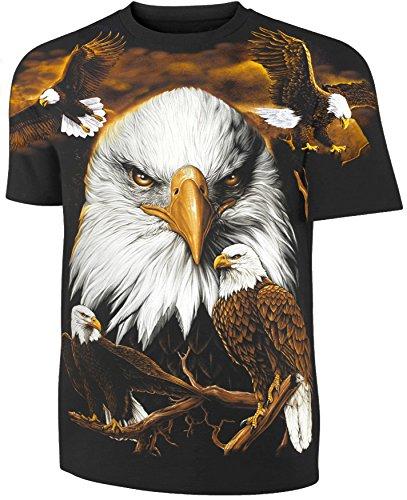 Tiermotiv T-Shirt Weißkopfseeadler Allprint Größe XXL