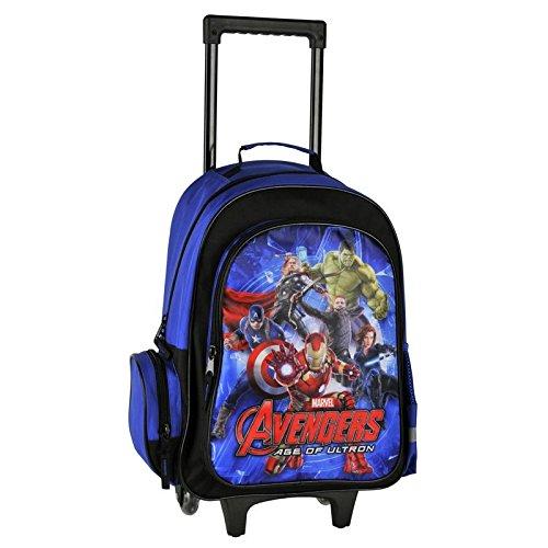 Avengers grande borsa a rotelle Trolley a zaino cartella scuola Super Heroes Marvel