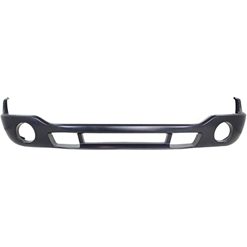 Front Bumper Cover Compatible with 2003-2006 GMC Sierra 1500 Sierra 2500 HD Primed with FL Holes SLE Model All Cab Types Inc 2007 Classic