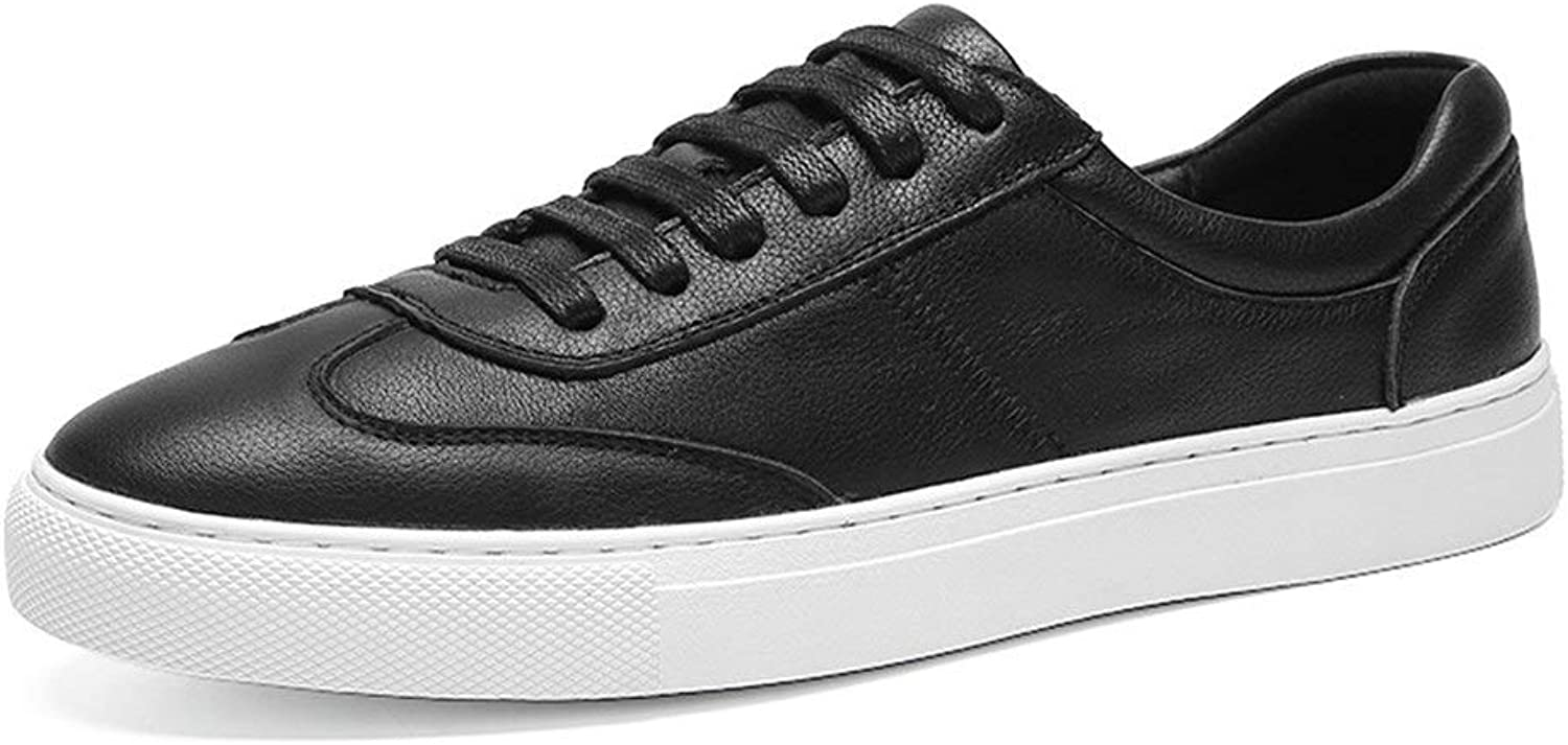 Men's Fashion Sneaker for Men Sports shoes Lace Up OX Leather Low Top Simple Pure colors Outsole Work Boots,shoes