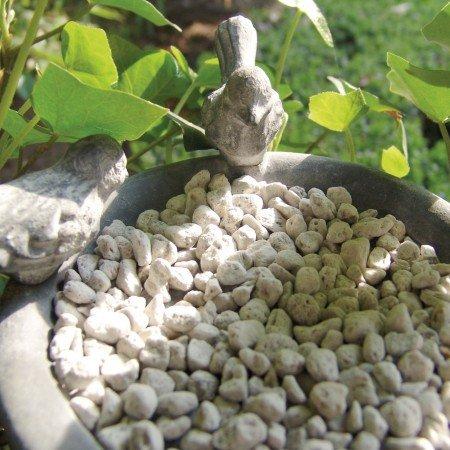 Esschert Design Soucoupe pour Pot avec Oiseaux Gris