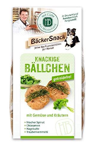 8 x125g Heiden-Billerbeck Hund Snack Knackige Bällchen mit Gemüse & Kräutern