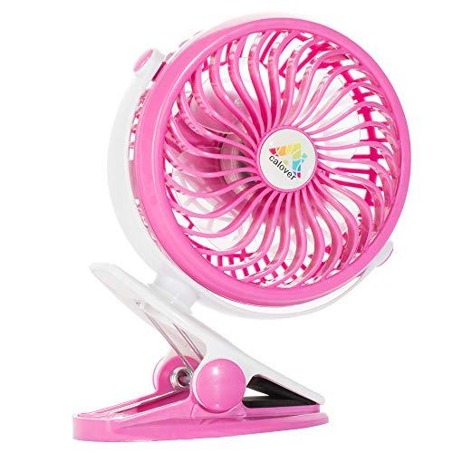 Battery Operated Fan Portable Clip On Fan Desk, Car, Bed, Baby Stroller, Table, USB Fan Rechargeable Battery