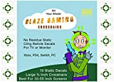 Blazing Gaming Crosshairs Large 3/4 Inch Aim Assist for 33 to 55 Inch Monitors and TV Screens - 10 Pack of Compact Bold Green High Visibility Static Cling Decals