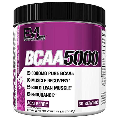 EVLution Nutrition BCAA 5000, Acai Berry, 240g