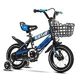 Bicicleta para niños Bicicleta para Niños con Cesta para Edades de 2 A 9 Años Asiento Ajustable 12 14 16 Bicicletas de 18 Pulgadas Bicicletas con Ruedas de Entrenamiento y Guardabarros Bicicleta para
