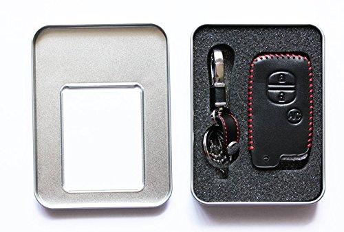 『トヨタ TOYOTA プリウス アクア スマートキーカバー 本革ケース ブラック A/Cボタン有 3273 ec-onlineshop … (ブラック A/Cボタン有)』の3枚目の画像
