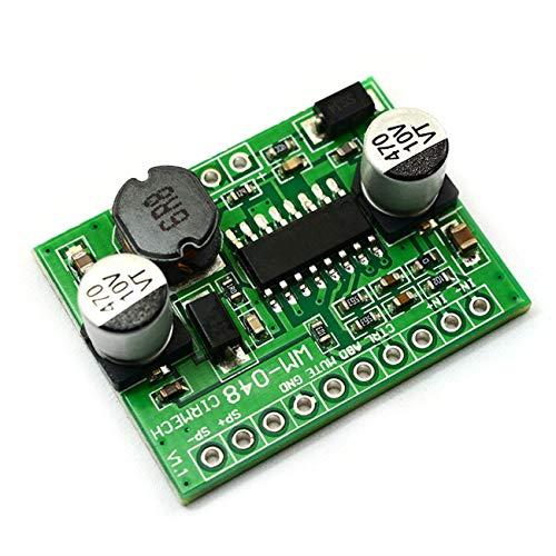 FYstar Digital-Leistungsverstärkerplatinen AB / D Klasse 5-6,5 W Mono-Eingang 2,5-5,5 V Boost Einstellbarer HT8692-Chip-Verstärker (grün)