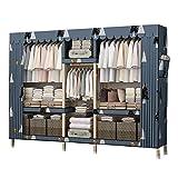 ZWYSL Armario de pared para armario, armario, armario, armario, armario, dormitorio, lavable, de tela (tamaño: 173 x 45 x 173 cm)