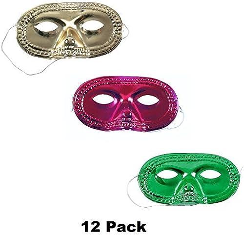 tienda de pescado para la venta Metallic Metallic Metallic Half-Masks Mardi Gras Eye Masks by Kid Fun  precios mas baratos