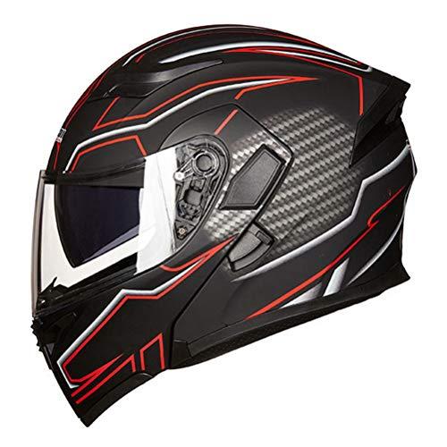 Cascos de moto modulares para hombres Cascos de moto abatibles aprobados por el DOT Dual Lens Scooter Moto Helmet Moto Casco