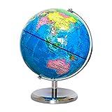 Lkk-kk Inicio Actualizado geográfica Esfera en rotación de Mesa 20 cm Globo Antiguo Decorativo de Escritorio