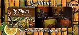 Coffret Rhum - Contient : 4 petits verres décorés