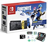 2020 Newest Nintendo Switch Wildcat Bundle Fortnite Special Edition 32GB Console - Yellow and Blue Joy-Con - 6.2' Touchscreen LCD, 2000 V Bucks + MarXsol 13-in-1 including 64GB SD Card Holiday Bundle