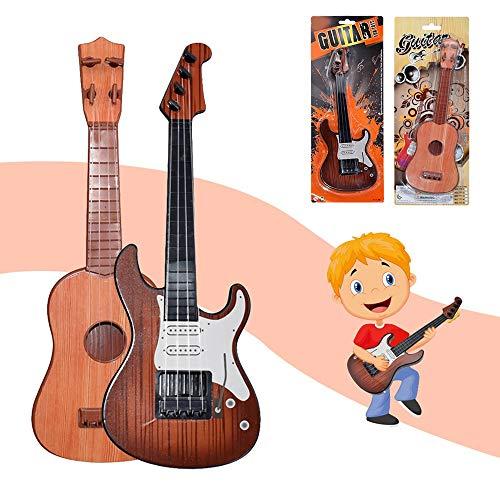 Alecony Kinder Gitarre Ukulele, Classic Vintage Reisegitarre, 4 Saiten Kindergitarre Musikinstrument Konzertgitarre, Pädagogisches Lernspielzeug für Anfänger Mädchen Jungen Geschenk (B)