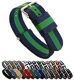 Barton - Correa de reloj de nailon estilo OTAN, elección de color, longitud y ancho (18, 20, 22 o 24 mm)